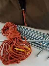 REI Base Camp 6 Tent Stakes and Roping