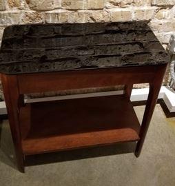Side Table Smoked Glass Top