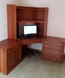 Stickley Workstation Desk Corner Unit