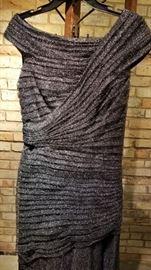 Tadashi Shoji Gown Ruessed Bodice
