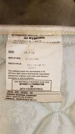 Trundle Bed Mattress Tag