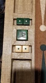 Vintage Bakelite Backgammon Dice