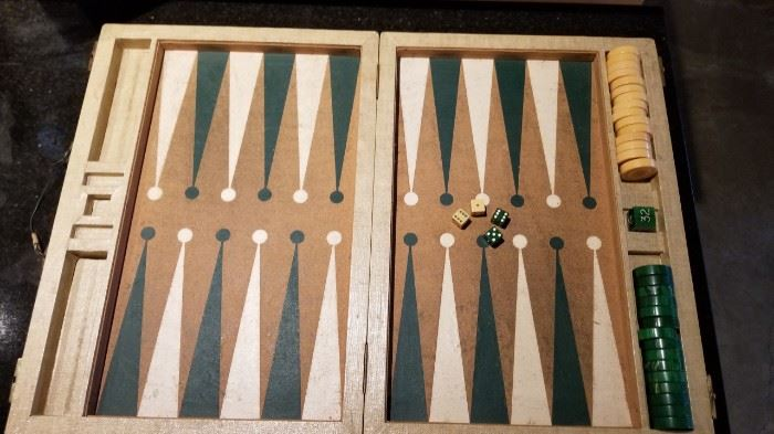 Vintage Bakelite Backgammon Game