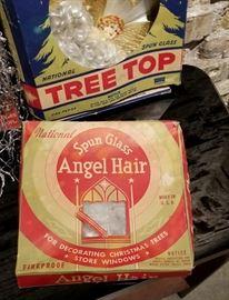 Vintage Christmas Decor Angel Hair
