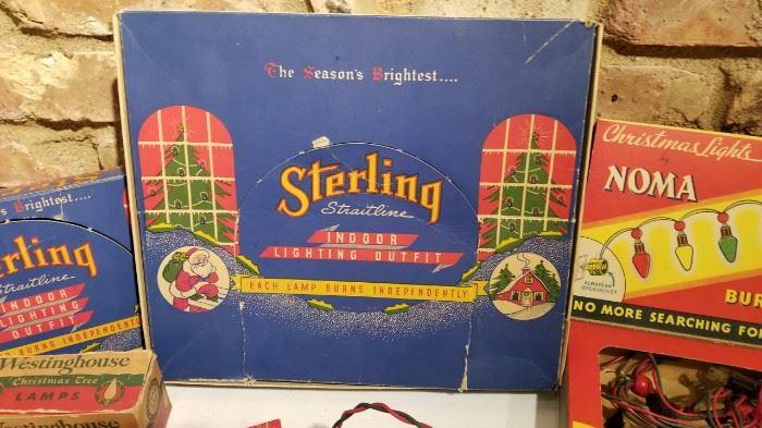 Vintage Christmas Lights Sterling