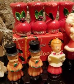 Vintage Christmas Novelty Candle Carolers