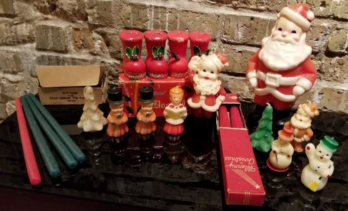 Vintage Christmas Novelty Candle Collection