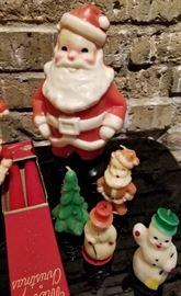 Vintage Christmas Novelty Candle Large Santa