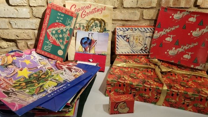Vintage Daytons and Other Christmas Bags Boxes