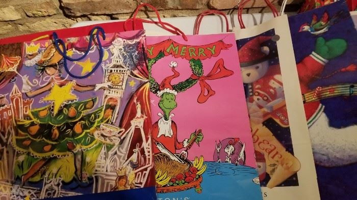 Vintage Daytons and Other Christmas Bags and Boxes a