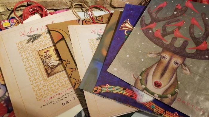Vintage Daytons and Other Christmas Bags and Boxes b