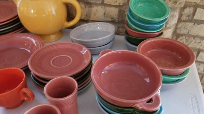 Vintage Fiestaware Fiesta Bowls with Handles as is