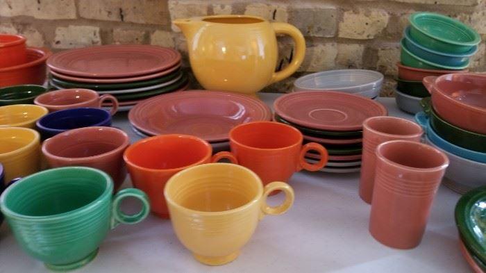 Vintage Fiestaware Fiesta Cups as is