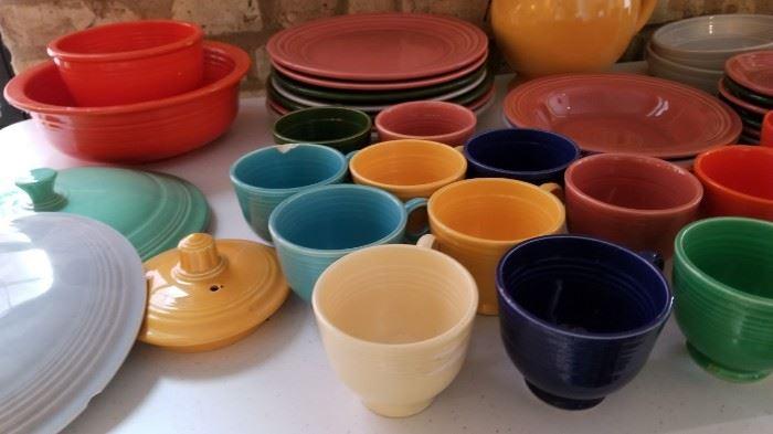 Vintage Fiestaware Fiesta Pieces as is