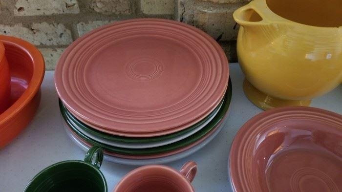 Vintage Fiestaware Fiesta Plates as is