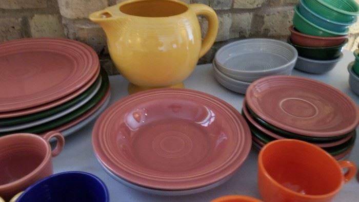 Vintage Fiestaware Fiesta Saucers and Bowls as is