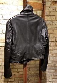 Vintage Leather St Paul Police Ladies Jacket Back