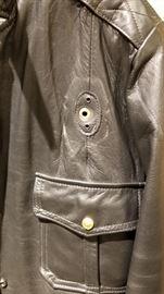 Vintage Leather St Paul Police Ladies Jacket Badge Spot