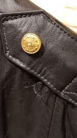 Vintage Leather St Paul Police Ladies Jacket Button