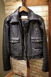 Vintage Leather St Paul Police Ladies Jacket Front