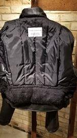 Vintage Leather St Paul Police Ladies Jacket Interior Back