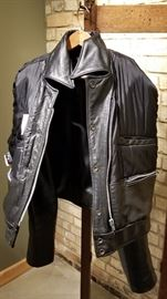 Vintage Leather St Paul Police Ladies Jacket
