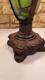 Vintage Reverse Painted Table Lamp Base