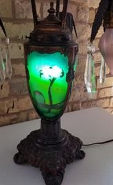 Vintage Reverse Painted Table Lamp Body