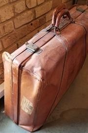 Vintage Suitcase Side with Cunard Sticker
