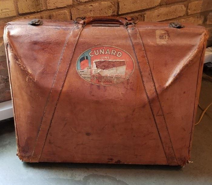 Vintage Suitcase with Cunard Sticker