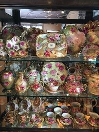 Lots of hand painted China (Limoge, Bavarian, German, French...)