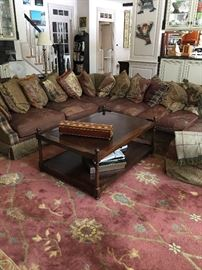 Fabulous large leather sectional