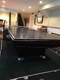 Brunswick pool table and removable ping pong top