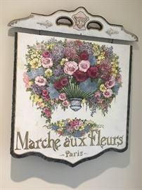 Antique sign repainted