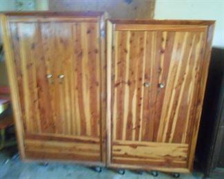 Cedar cabinets in the garage