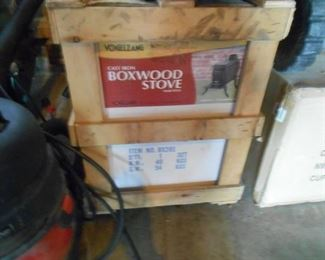 This Boxwood stove has never been opened- in the garage for your perusal!