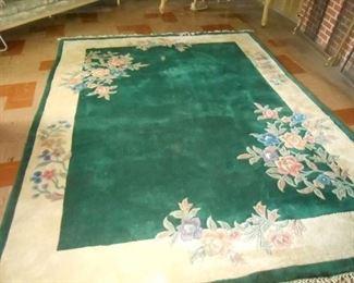 9X12' rug in basement