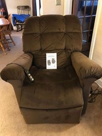 Brown lift chair- not very old and works awesome!