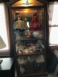 Lighted cabinet-dolls sold separately
