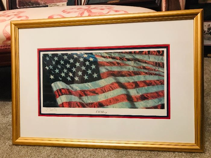 "Signed Mort Kunstler ""Old Glory"""