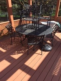 VERY NICE PATIO SET-ONLY TABLE AND 4 CHAIRS AVAILABLE