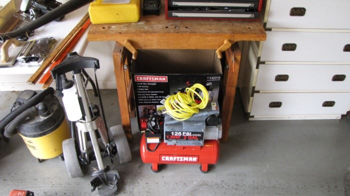 Air compressor and shop bench - Craftsman table to toolbox