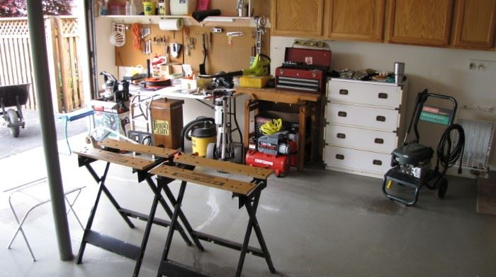 pair of portable shop tables
