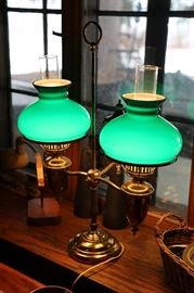 Double student lamp.
