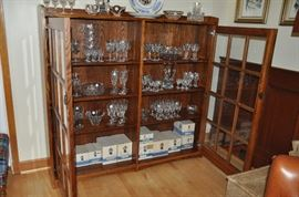 Entire unit is filled with a amazing collection of Waterford Lismore stemware!