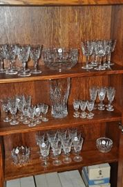More amazing crystal including Lismore Goblets, White Wine and Cordials