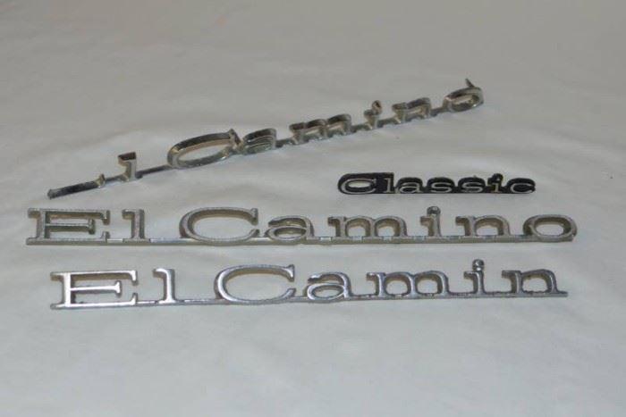 El Camino Car Emblems Vintage with Classic as a B ...