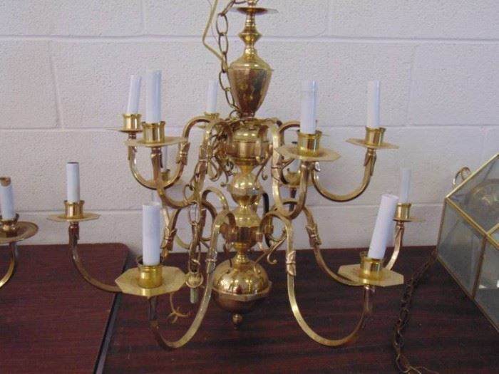 12 arm chandelier no globes