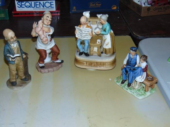 Figurine Lot Norman Rockwell and a numbered GEO Z ...
