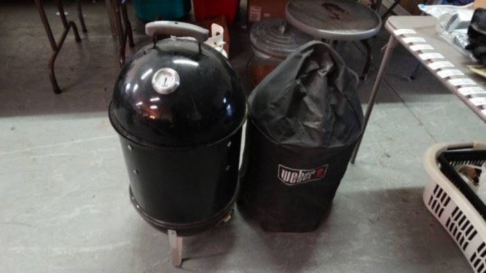 Weber Grill Smoker with cover